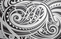 Maori style ornament Royalty Free Stock Image