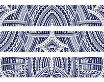 Maori style ornament set. Set of Maori style ornaments. Ethnic themes can be used as body sleeve tattoo or ethnic backdrop Royalty Free Stock Photography