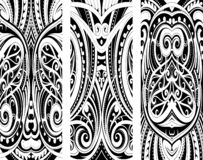 Maori style ornament set stock image