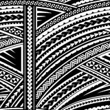 Maori style ornament. Maori style tribal design. Seamless backdrop ornament Royalty Free Stock Photos