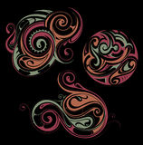 Maori style ornaments Royalty Free Stock Images