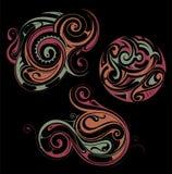 Maori style ornaments Royalty Free Stock Photo
