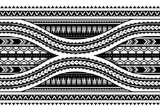 Maori style armband horizontal ornament. Seamless. Maori style pattern. Can be used as seamless armband design Stock Photography