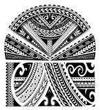 Maori style sleeve ornament. Maori ethnic style sleeve tattoo ornament Stock Images