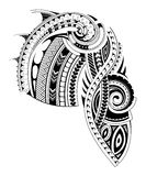 Maori style sleeve tattoo template Royalty Free Stock Image