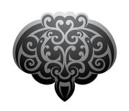 Maori style Stingray tattoo. Maori ornamental tattoo shape as Stingray fish Royalty Free Stock Photo