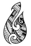 Maori style tattoo. Aboriginal fish hook symbol. Maori ethnic style tattoo as symbolic fish hook Royalty Free Stock Image