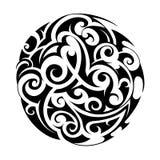 Maori style tattoo Stock Image