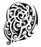 Maori style tattoo Royalty Free Stock Photography