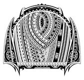 Maori style tattoo. Good for chest and sleeve tattoo Royalty Free Stock Photo