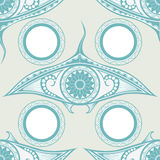 Maori style tattoo seamless pattern for decoration Stock Image