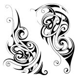 Maori style tattoo set Stock Photo