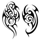 Maori style tattoo shapes set Royalty Free Stock Photo