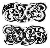 Maori style tattoo shapes Royalty Free Stock Photo