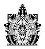 Maori style tattoo sleeve Stock Photography