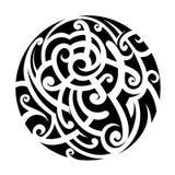 Maori style tattoo Stock Photo