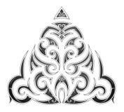 Maori style tribal art tattoo. Tribal art tattoo in Maori ethnic style Royalty Free Stock Photography