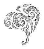 Maori style tribal art tattoo. Tribal art tattoo in Maori style isolated on white Royalty Free Stock Image