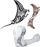 Maori Manta tattoo design Stock Photography