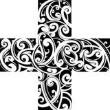 Maori styly tattoo cross shape Stock Images
