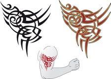 Maori tatoegeringsontwerp stock illustratie