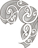 Maori tattoo design royalty free illustration
