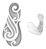 Maori tattoo design Royalty Free Stock Photography
