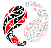 Maori tattoo ornament Stock Images