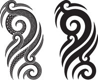 Maori tattoo pattern Stock Photo