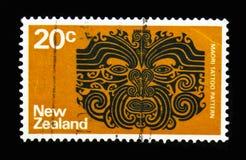 Maori Tattoo, serie de Definitives, vers 1974 image stock