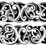 Maori tattoo set Stock Photography