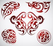 Maori tattoo shapes Royalty Free Stock Photo