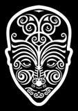 maori tatuering för framsida Fotografering för Bildbyråer
