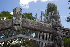 Maori traditionele gravure Royalty-vrije Stock Foto