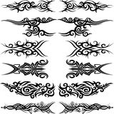 Maori tribal tattoo. Set of 6 different vector tribal tattoo in polynesian style Stock Photo