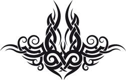 Maori tribal tattoo design Stock Photos