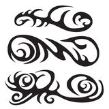 Maori tribal tattoo - Set of different vector tribal tattoo in polynesian style. Maori tribal tattoo,Set of different vector tribal tattoo in polynesian style Stock Photo