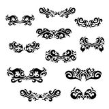 Maori tribal tattoo - Set of  different vector tribal tattoo in polynesian style. Celtic ornaments in traditional medieval style for ethnic embellishment and Stock Photo