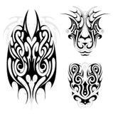 Maori tribal tattoo set Royalty Free Stock Image