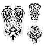 Maori tribal tattoo set Stock Photography