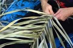 Maori vävt konstverk Fotografering för Bildbyråer