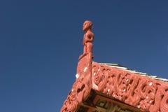 Maori- Versammlung-Haus Stockfotografie