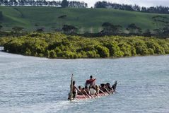 Maori War Waka Canoe Royalty Free Stock Photos