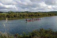 Maori War Waka Canoe Royalty Free Stock Photos