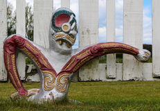 Maori Warriors. Maori culture artwork of warriors Stock Photo