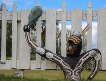 Maori Warriors. Maori culture artwork of warriors Royalty Free Stock Photo
