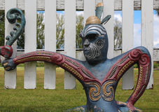 Maori Warriors. Maori culture artwork of warriors Stock Photography