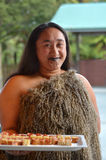 Maori woman smiling Royalty Free Stock Photo