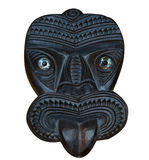 Maori Wood Carved Tiki Mask Royalty Free Stock Photo