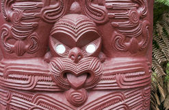 Maori Wood Carving Stock Photography